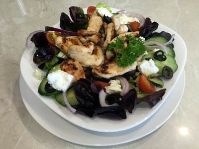 Greek Salad with Lemon and Herb Chicken